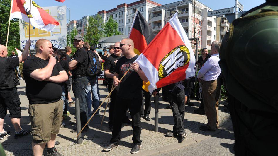 NPD-Demo (im Mai 2012): Kein Verbotsantrag der Bundesregierung