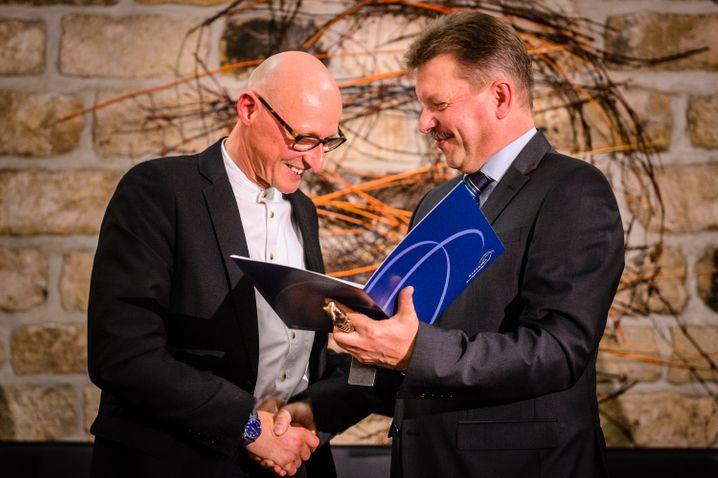 Überreichung des Radebeuler Kunstpreises 2013 an Jörg Bernig
