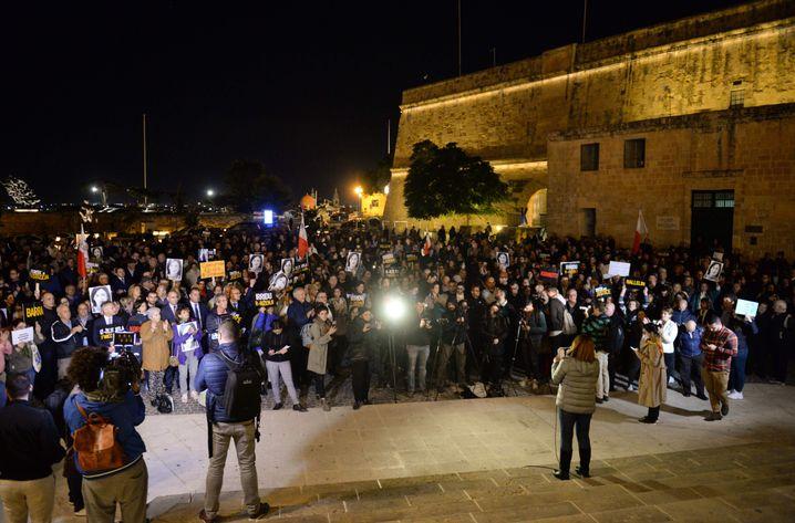 Demonstrationen in Valletta, Malta, am 20. November