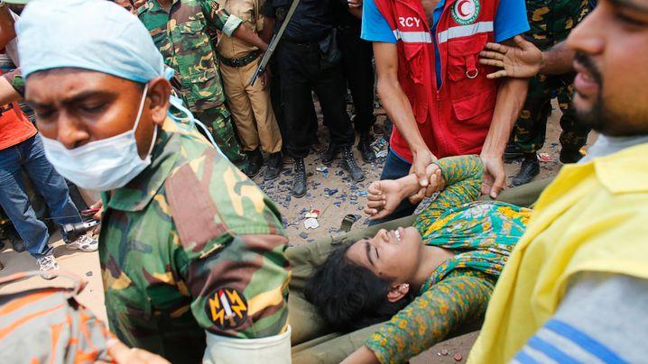 Gebäudeeinsturz: Dramatische Rettung in Bangladesch