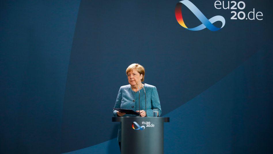 Angela Merkel bei ihrem Statement