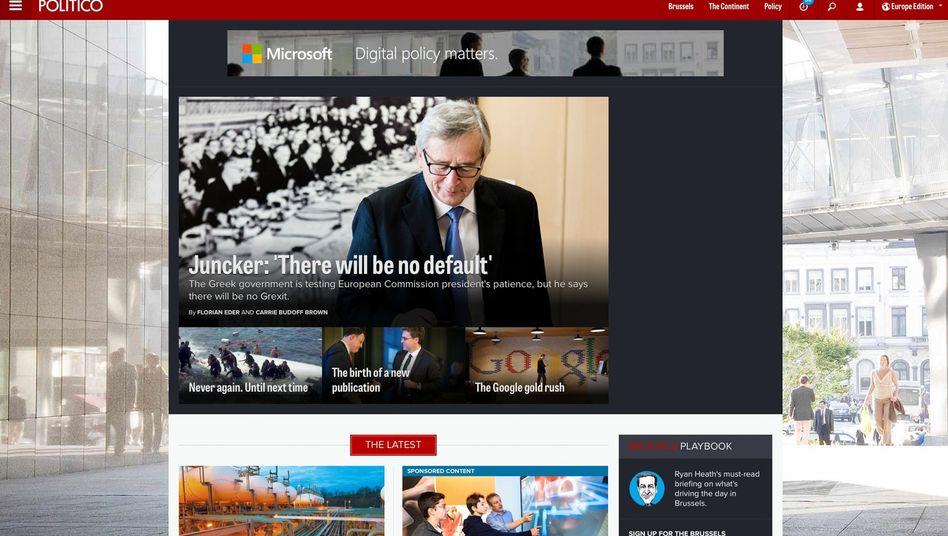 """Internetseite von """"politico.eu"""": Juncker grient mal wieder"""