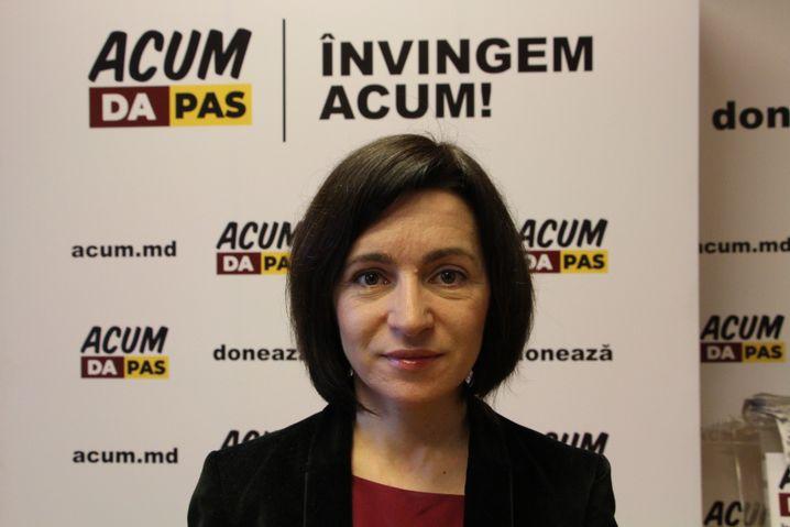 Ex-Präsidentschaftskandidatin Maia Sandu von ACUM