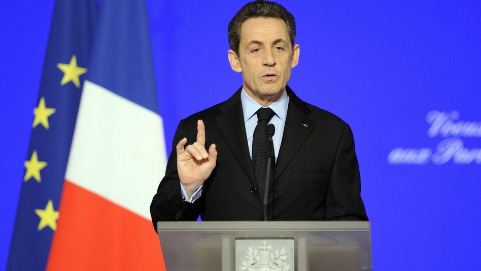 """Sarkozy: """"Wenn wir das Dreifach-A verlieren, bin ich tot."""""""