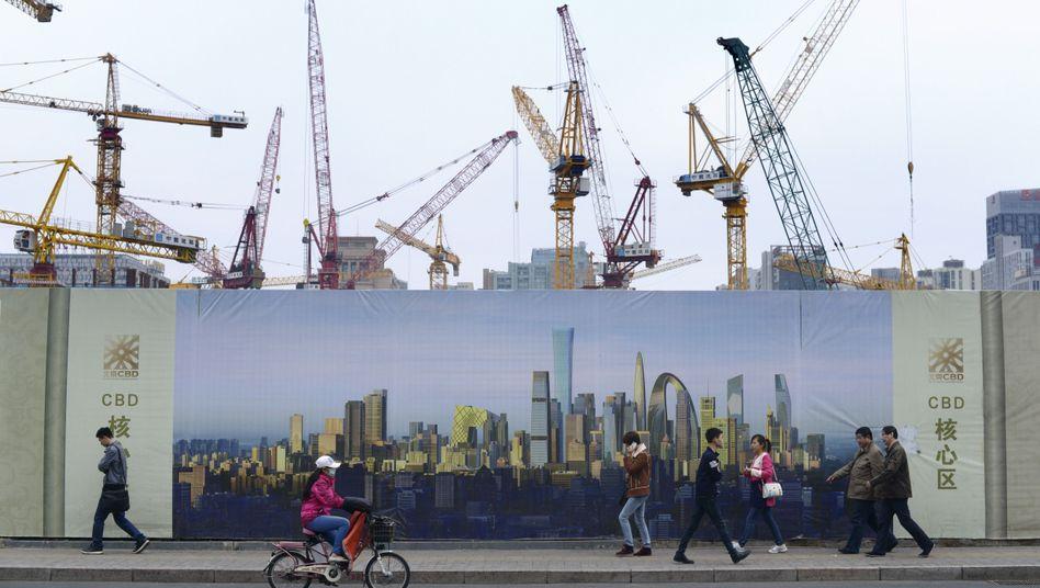 Baustelle in China: Die Welt steckt in einer Wachstumskrise