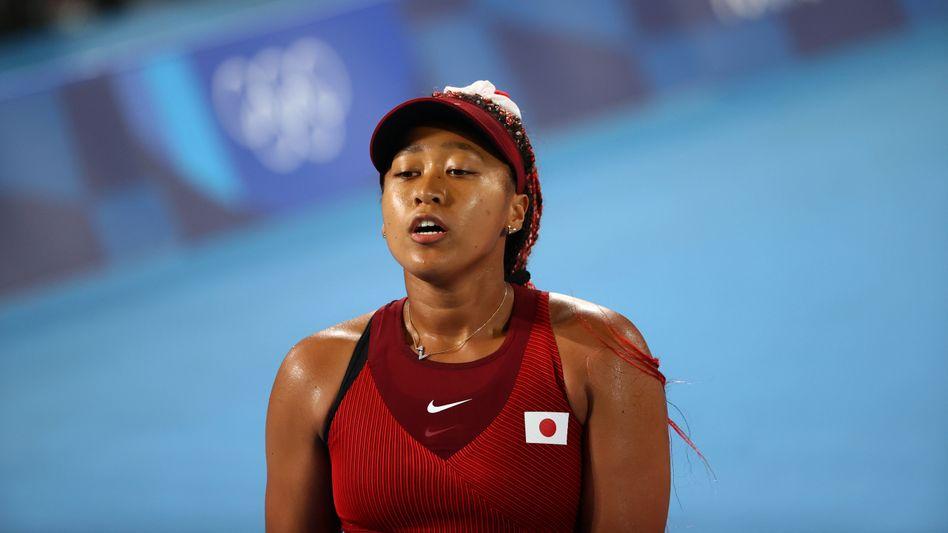 Naomi Osaka kann die erhoffte Goldmedaille bei den Spielen in Tokio nicht mehr gewinnen