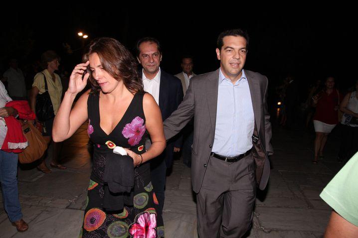 Tsipras mit Partnerin Peristera Baziana: Privates bleibt privat