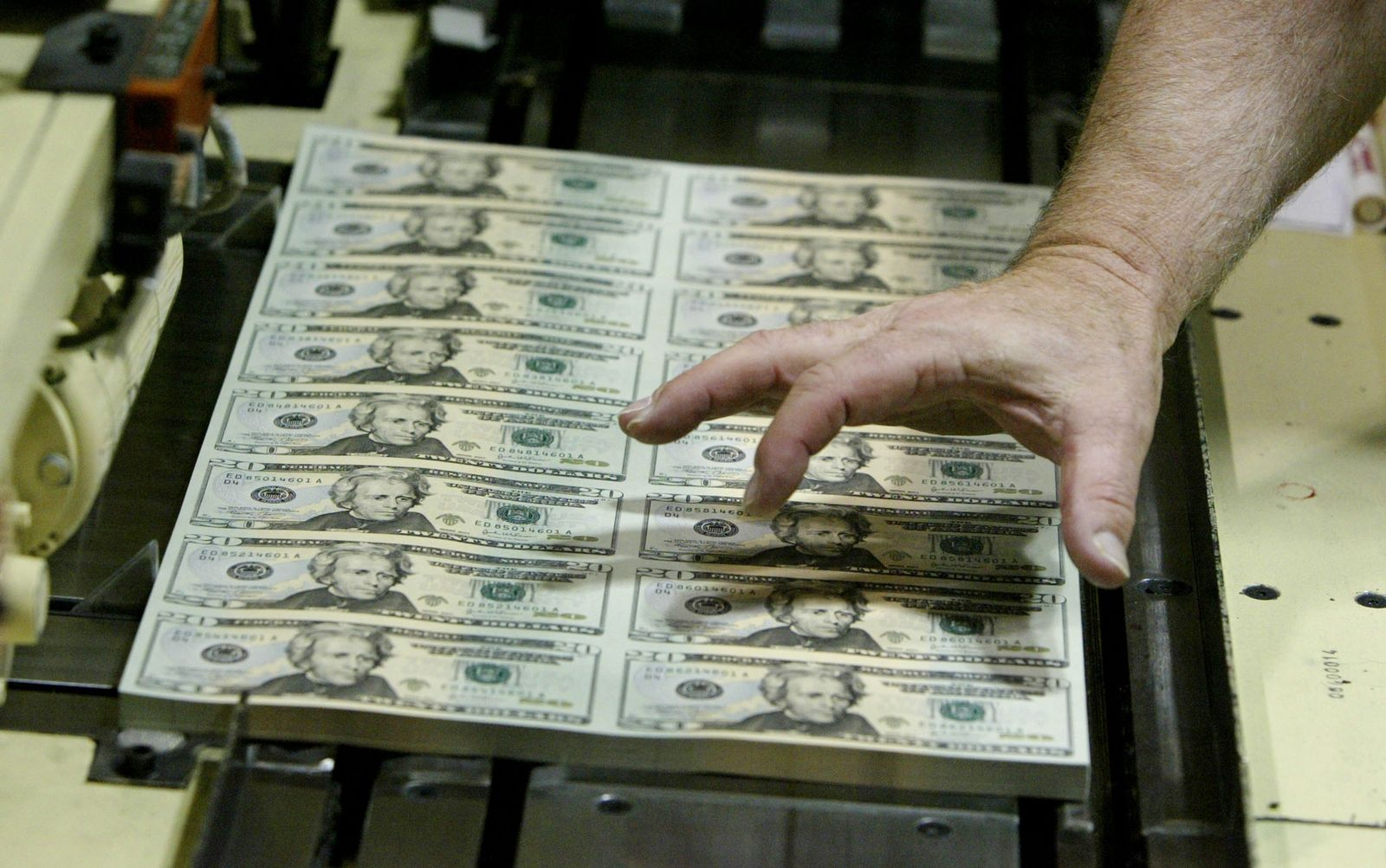 Dollar / Druck / Presse / Gelddruck