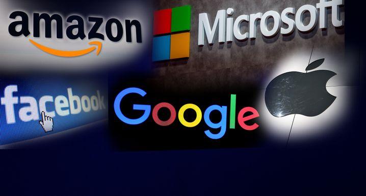 Logos der Tech-Konzerne