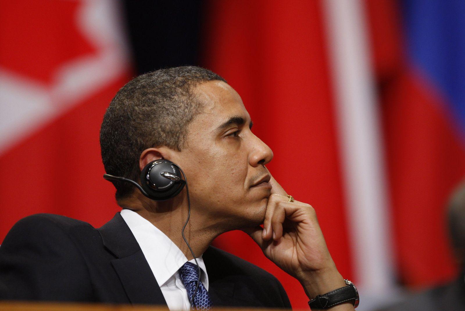Obama / Kopfhörer