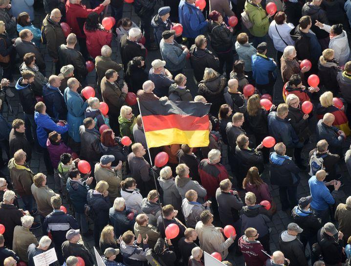 Kein Quell des konstruktiven Meinungsaustausches: Pegida-Demo in Dresden (Oktober 2018)
