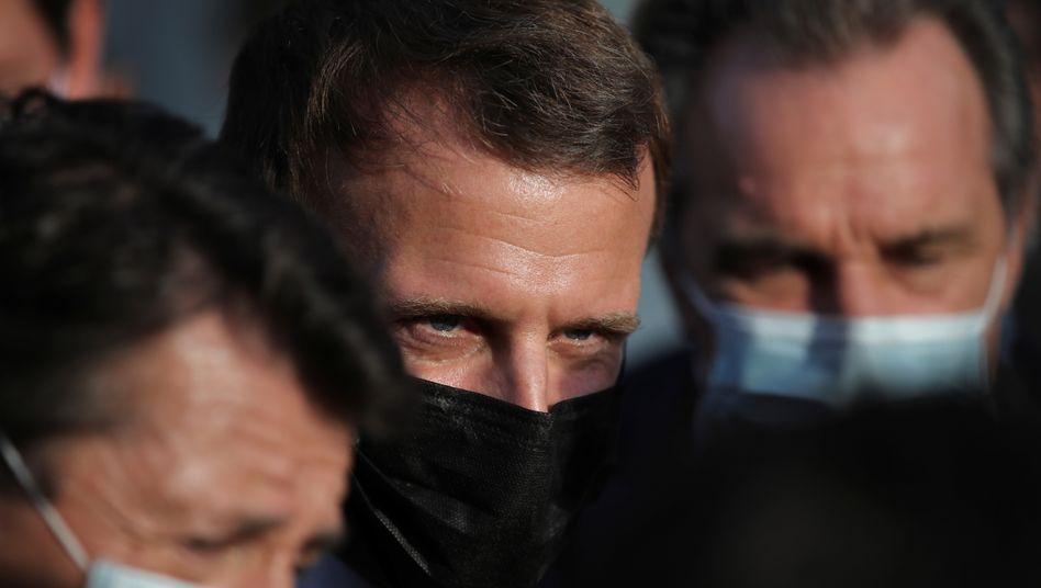 Emmanuel Macron am 7. Oktober
