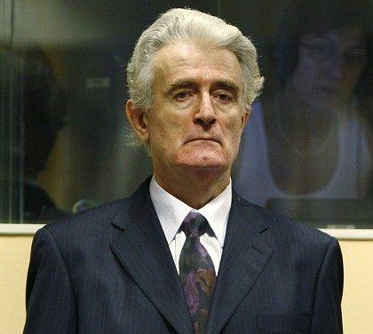 Former Bosnian Serb leader Radovan Karadzic in the ICTY courtroom on Thursday.