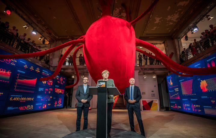Generalsekretär Tauber, Merkel, CDU-Bundesgeschäftsführer Schüler