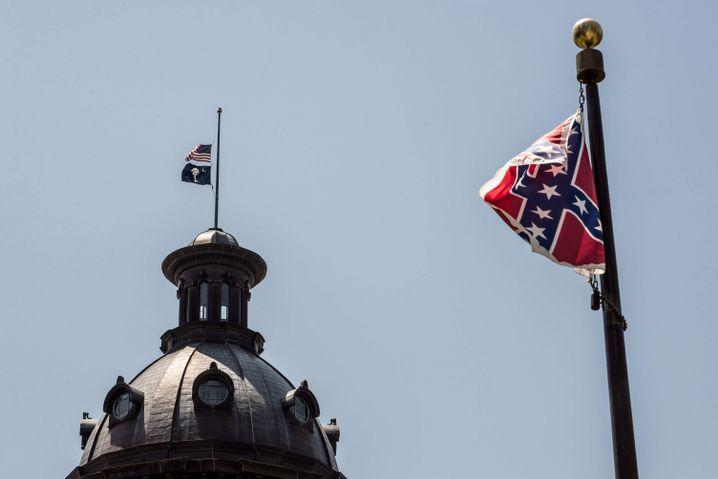 Konföderierten-Flagge vor dem Capitol in Columbia, South Carolina