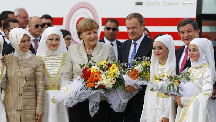 Blitztrip an die syrische Grenze: Merkel in Nizip