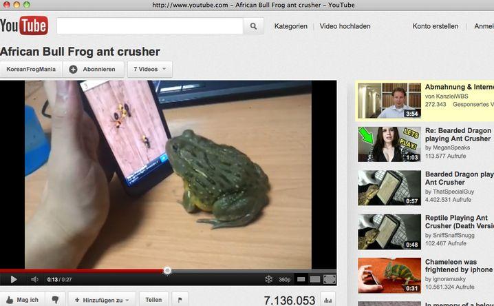 """""""Ant Crusher"""": Ochsenfrosch fängt Android-Ameisen"""