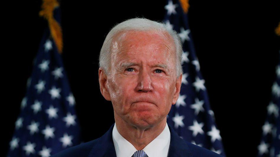 Joe Biden bei einer Parteiveranstaltung in Dover, Delaware