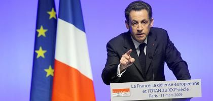 "French President Nicolas Sarkozy: ""In the interest of France and Europe""."