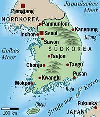 ... die sich langfristig mit ihrem verfeindeten Nachbarn Südkorea vereinigen will.