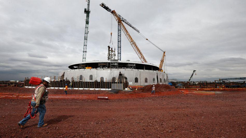 Baustelle des neuen Hauptstadtflughafens östlich von Mexiko-Stadt