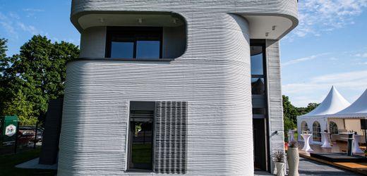 Beckum, Nordrhein-Westfalen: Erstes deutsches Wohnhaus aus dem 3D-Drucker eingeweiht