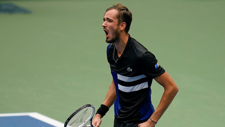 Daniil Medwedew feierte den erneuten Einzug ins Halbfinale