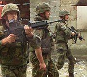 Deutsche Kfor-Soldaten 1999 im Kososvo