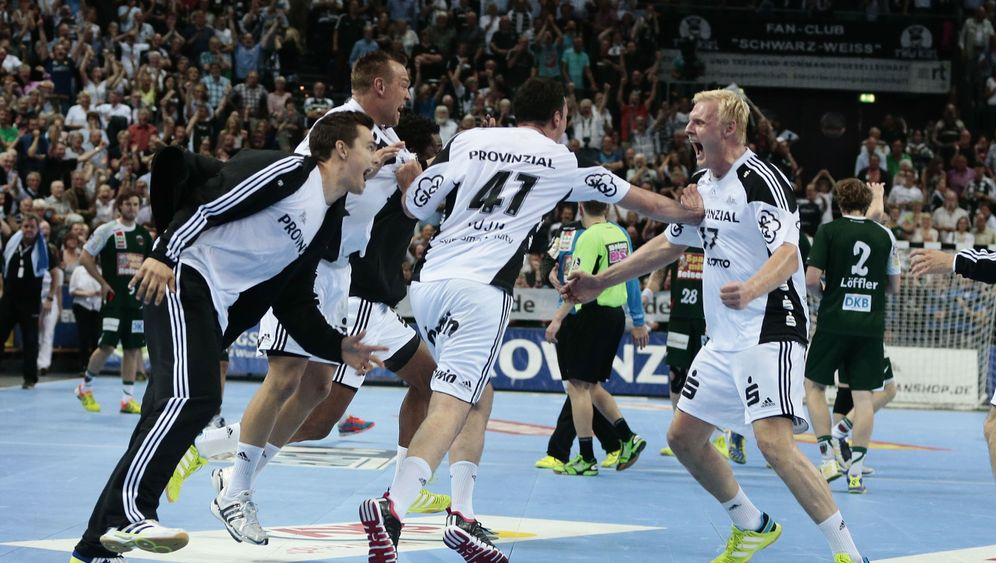 Handball-Bundesliga: Feiernde Zebras, trauernde Löwen
