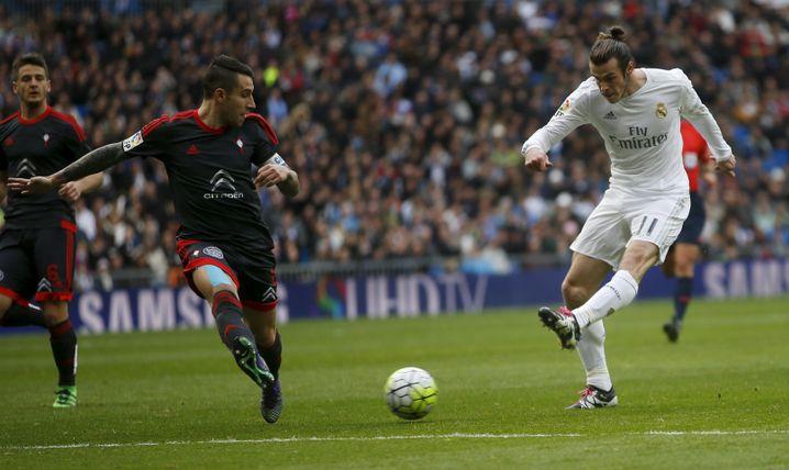 Bales Schuss zum 7:1 gegen Vigo