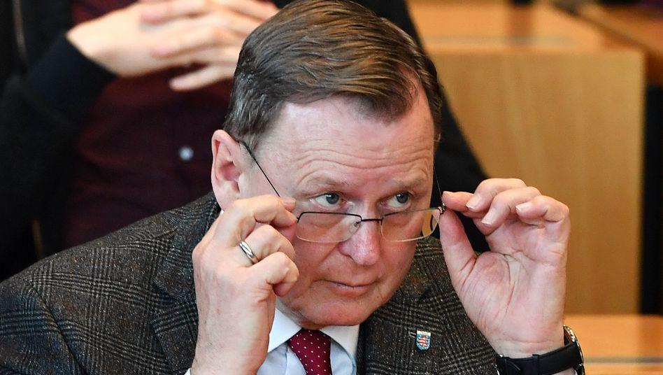 Ramelow während der Wahl des neuen Ministerpräsidenten im Thüringer Landtag