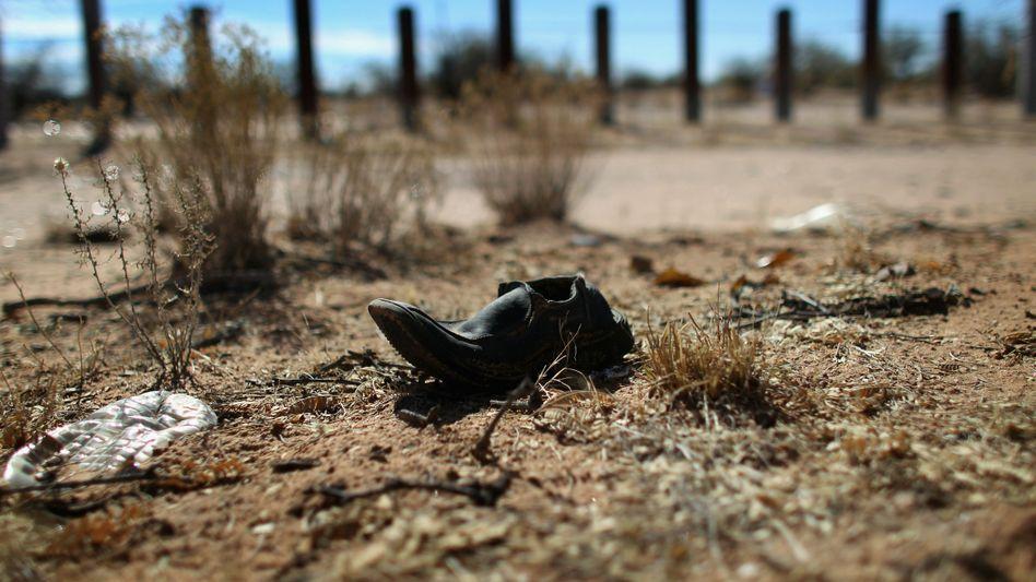 Sonora-Wüste an der Grenze zwischen den USA und Mexiko