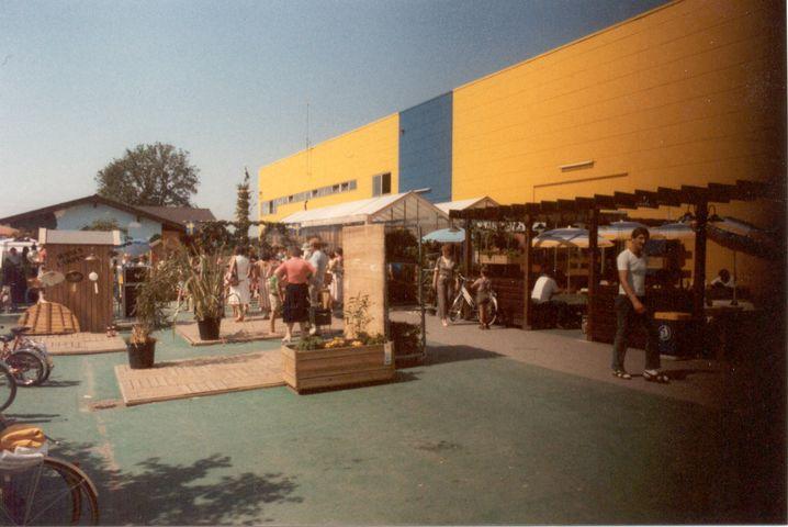 Das erste Ikea-Einrichtungshaus in Eching bei München