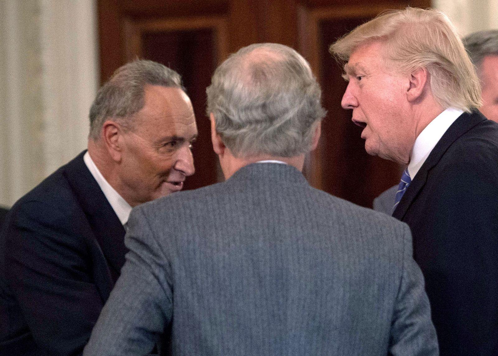 Chuck Schumer/Donald Trump