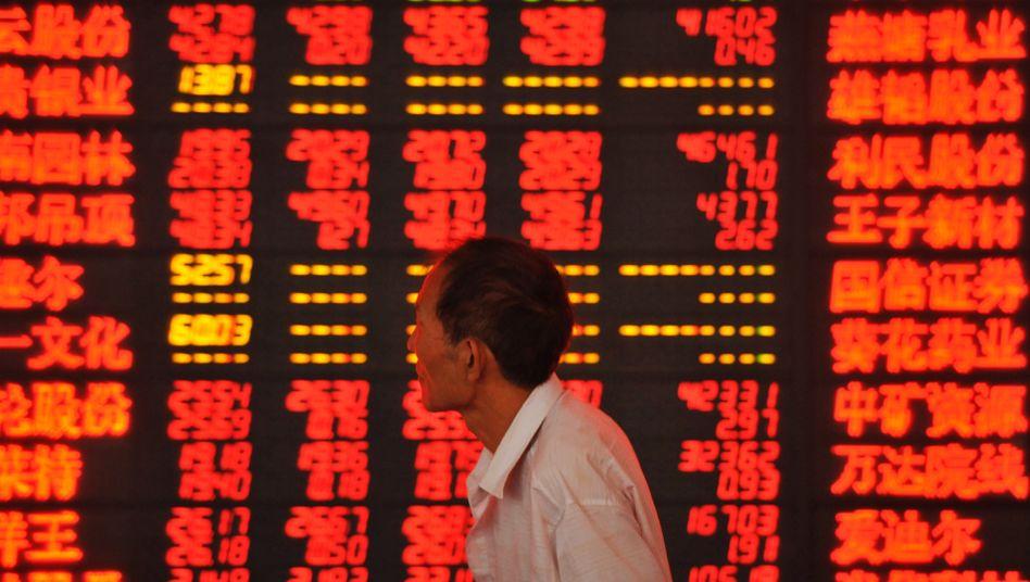 Was ist hier los? Börse in Schanghai