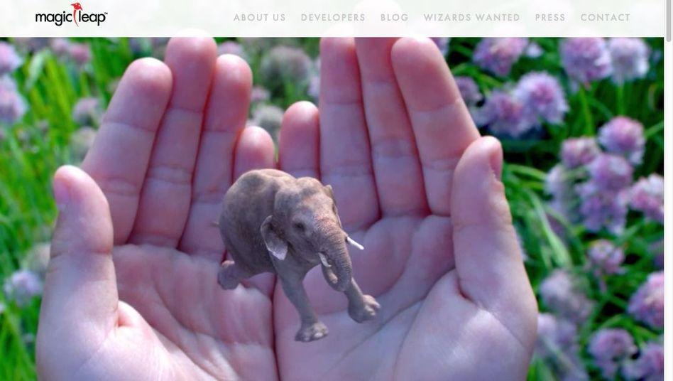 Screenshot der Webseite von Magic Leap: Geheimnistuerei statt Antworten