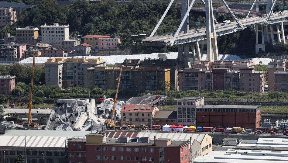 Eingestürzte Morandi-Brücke in Genua