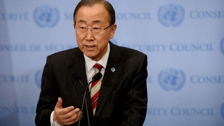 Uno-Generalsekretär Ban Ki Moon: Er bittet die Dschihadisten um Menschlichkeit