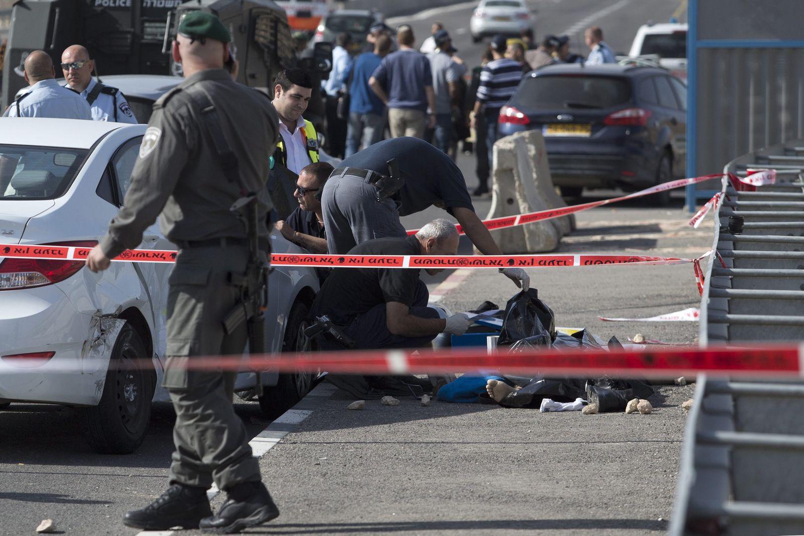 Palestian killed in a failed run over attack in Kfar Adumim