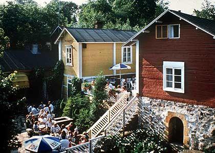 Historische Holzhäuser: Naantali war früher ein bedeutender Kurort