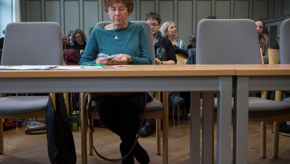 Ärztin Kristina Hänel im Amtsgericht in Gießen
