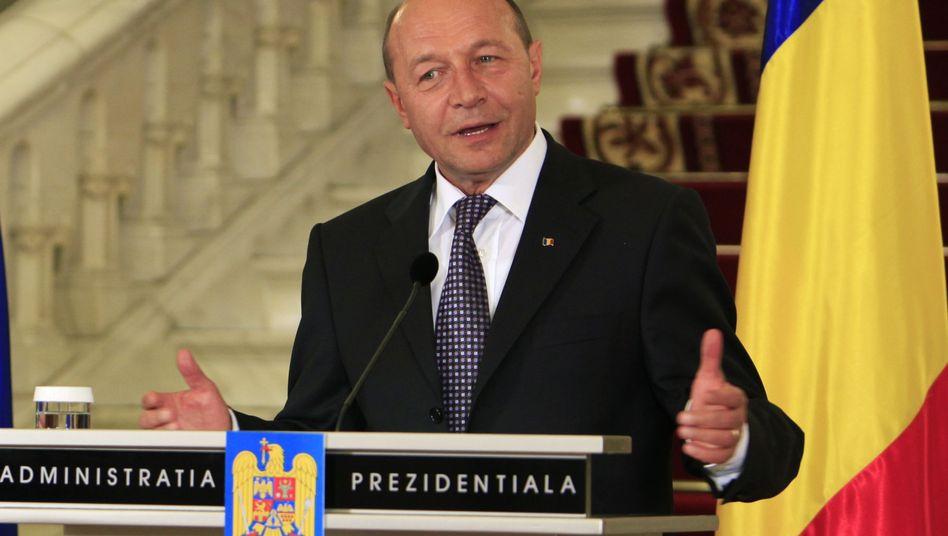 """Rumäniens Präsident Traian Basescu: """"Der dicke Mann sitzt auf dem Rücken des dünnen"""""""