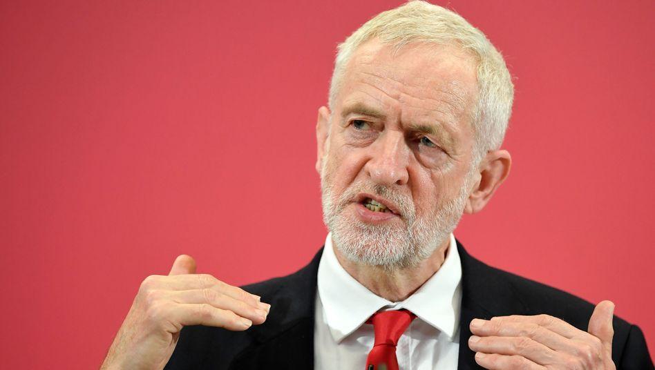 Oppositionsführer Jeremy Corbyn: entschieden unentschieden