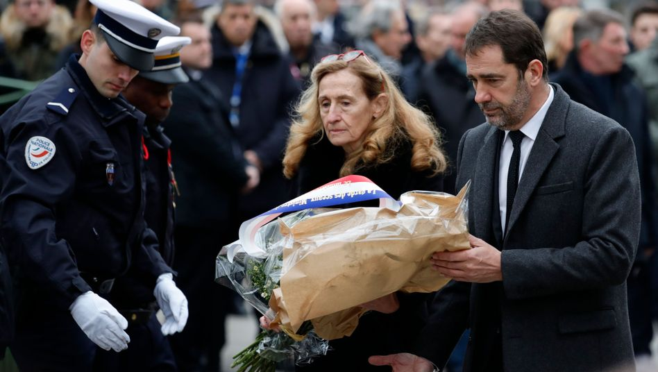 Frankreichs Innenminister Christophe Castaner und Justizministerin Nicole Belloubet