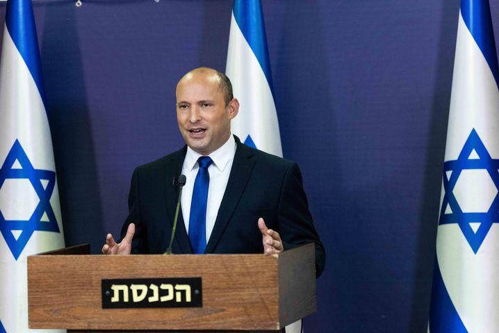 Israels neuer Ministerpräsident Naftali Bennett. Nach zwei Jahren soll Yair Lapid ihn ersetzen.