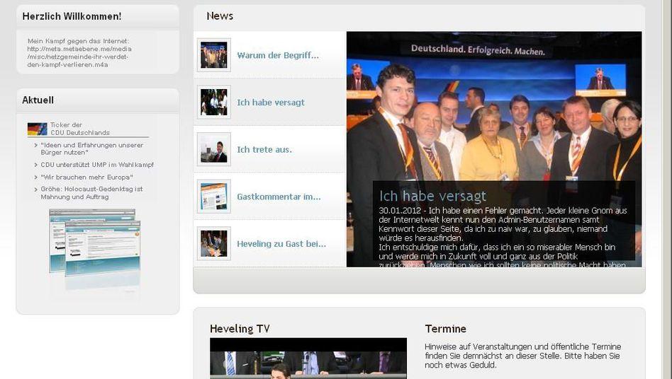 Hevelings Homepage: Hacker schrieben Texte in seinem Namen