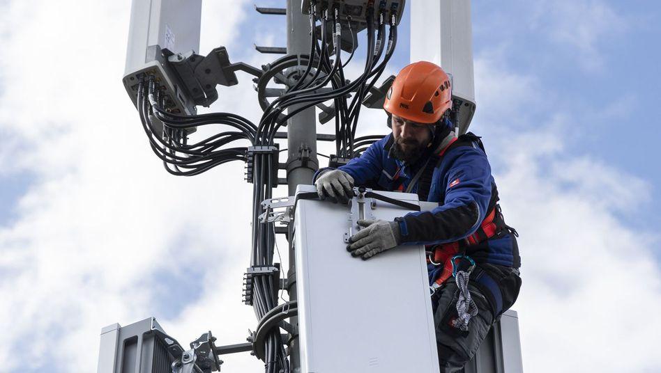 Bitte nicht zu sicher: 5G-Ausbau, hier in der Schweiz