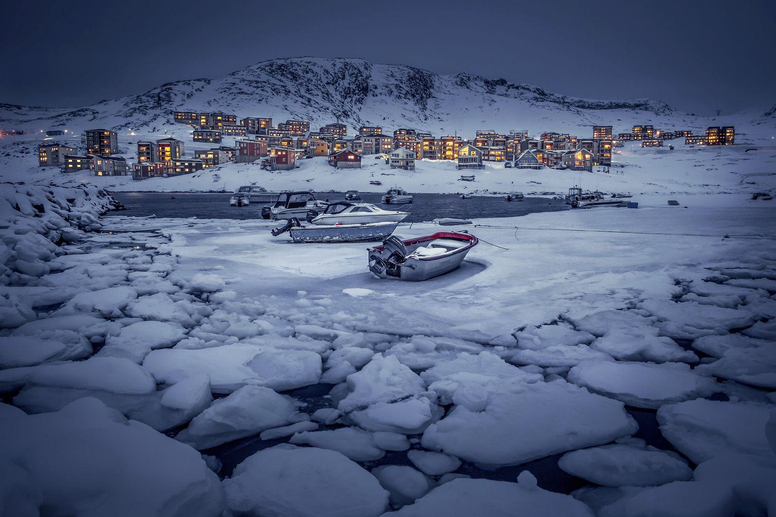 Grönland / Hafen von Nuuk