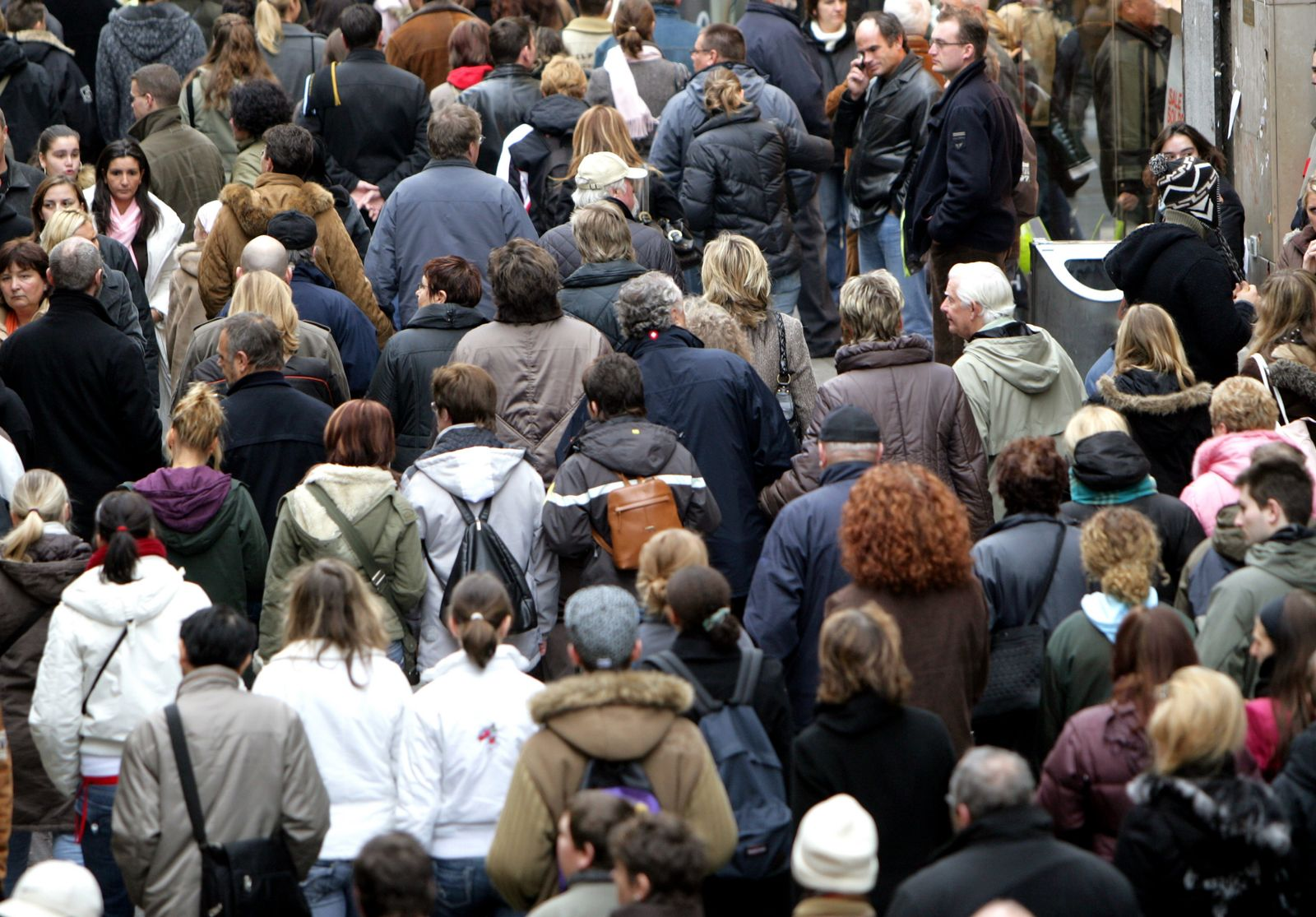 Rente/ Menschenmenge