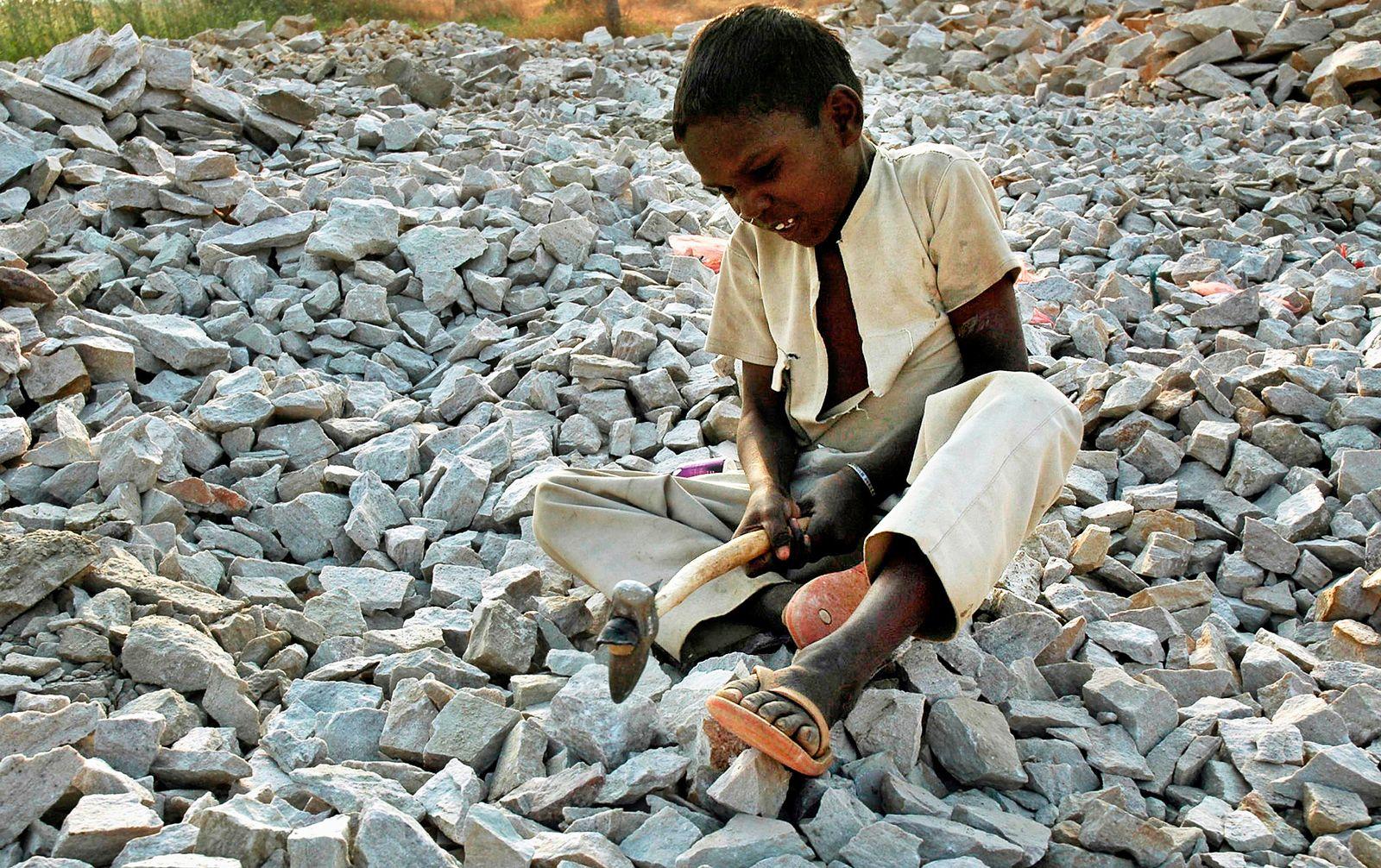 Steinklopfer / Indien